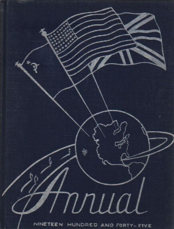 High School Yearbook Indianapolis Indiana IN Shortridge High School Annual 1945