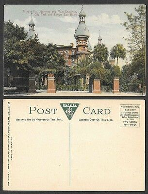 Old Florida Postcard - Tampa - Gateway and Main Entrance to City Park