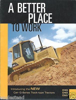 Equipment Brochure - Caterpillar - D3g D4g D5g - Crawler Tractor - 2001 E2635