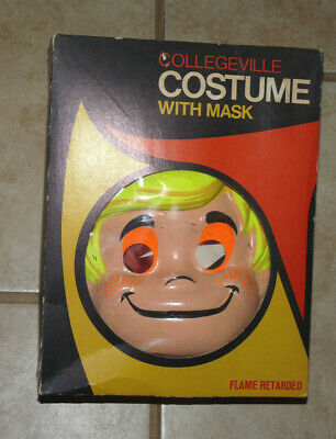 Vtg 1971 Collegeville Halloween Costume W/Mask Bamm Bamm Flintstones Sz Large