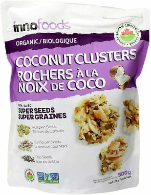InnoFoods Organic Coconut Clusters with Super Seeds 500g NON-GMO KOSHER
