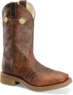 Double H Men's Rust Leather Composite Toe Work Boots DH6134 Width - D Size 10