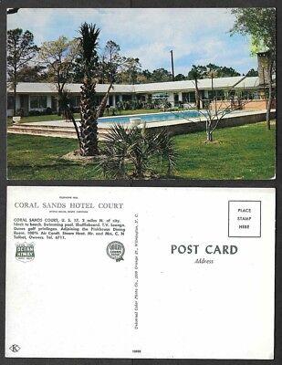 Old South Carolina Postcard - Myrtle Beach - Coral Sands Hotel, Swimming Pool - South Carolina Pool