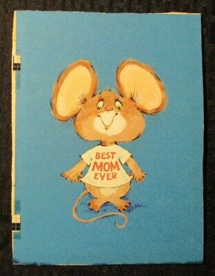 BEST MOM EVER Cute Mouse 6x8