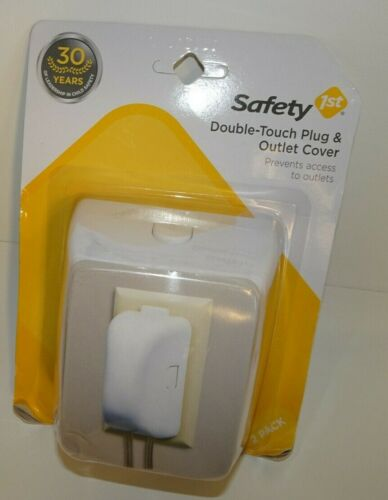 BRAND NEW SAFETY 1ST 2 PACK DOUBLE TOUCH PLUG