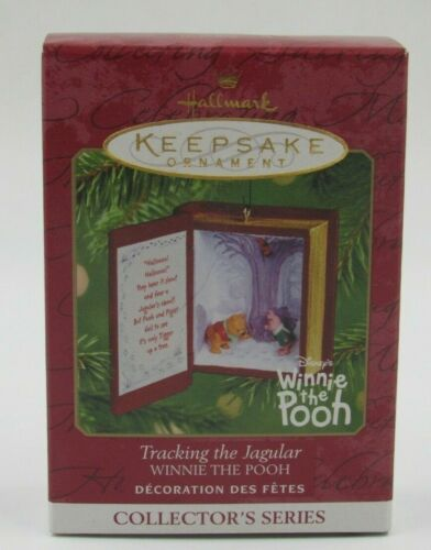 """Hallmark Keepsake """"Tracking the Jagular"""" Winnie the Pooh Ornament Dated 2001"""