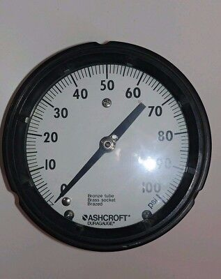 New Old Stock Ashcroft 0-100 Pressure Gauge Q-8603
