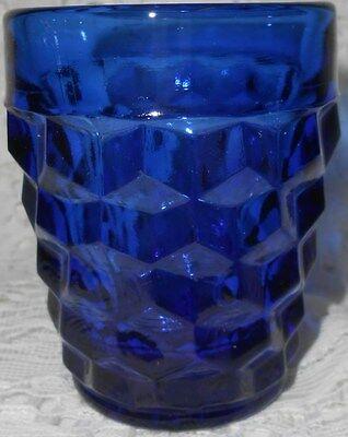 Blue Vaseline American Pattern Shot Glass Tumbler   Cup Uranium Toothpick Holder