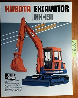 Kubota Kh-191 Excavator Brochure 1987-10-ktcl-04 288