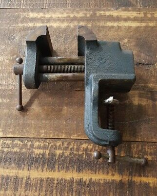 Vintage Small Bench Vise 2 Jaws