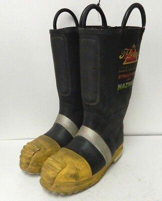 Thorogood Structural Hazmat Steel Toe Firefighter Fire Fighter Boots 7 Medium