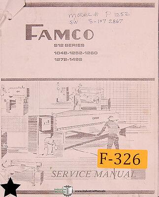 Famco S12 Series 1048 1252 1260 1262 1496 Shear Service And Parts Manual