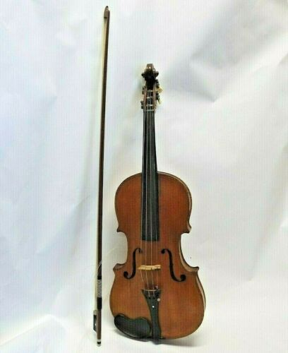 Beautiful OLD Antique VIOLIN w/ GERMAN BOW 4/4 FULL SIZE Good Condition FLAMED