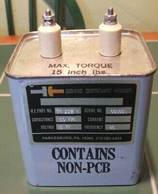 10uf Mfd 3kv High Voltage Oil Filled Energy Storage Capacitor - Tested