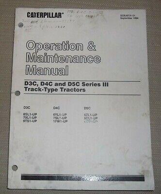 Cat Caterpillar D3c D4c D5c Series Iii Dozer Operation Maintenance Book Manual