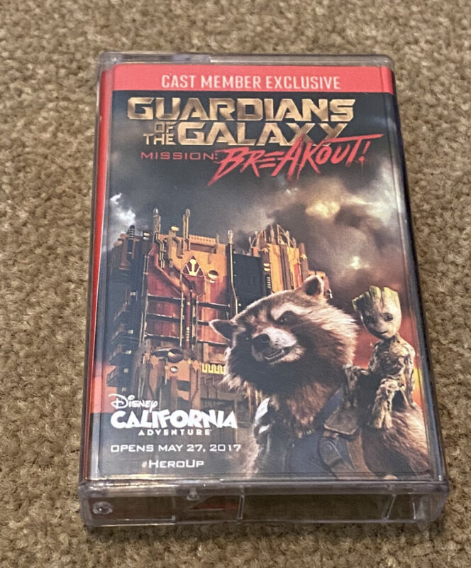 GUARDIANS OF THE GALAXY MISSION OF BREAKOUT CAST MEMBER EXCLUSIVE CASSETTE TAPE