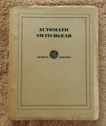 "1931 P&W PHILADELPHIA & WESTERN RAILWAY RAILROAD ""AUTOMATIC SWITCHGEAR"" MANUAL"