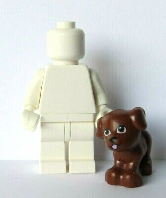 Lego 1 Brown Standing Puppy Dog     Minifigure Not Included  Animal Pet Friends