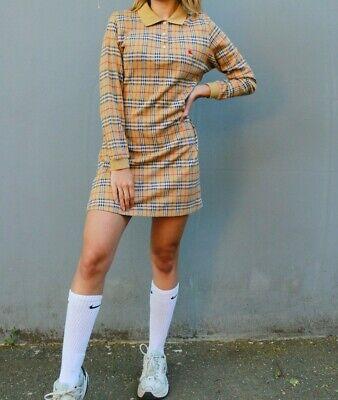Vintage Burberry Nova Check Wool Dress Size Large. Fits like a Medium Size 6 -10