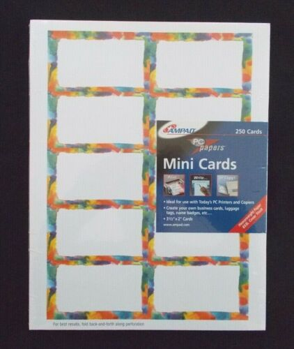 "Ampad PC Papers 250 Count Mini Cards 3-1/2"" x 2"" Cards Business Cards etc......."