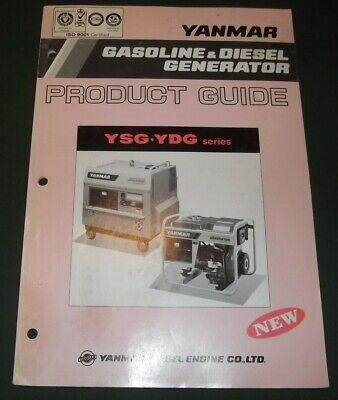 Yanmar Ysg Ydg Series Gas Diesel Generator Engine Product Guide Book Manual