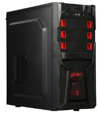 10-Core Gaming Computer Desktop Tower Gaming PC 8GB RAM AMD GRAPHICS WIFI DVD !!