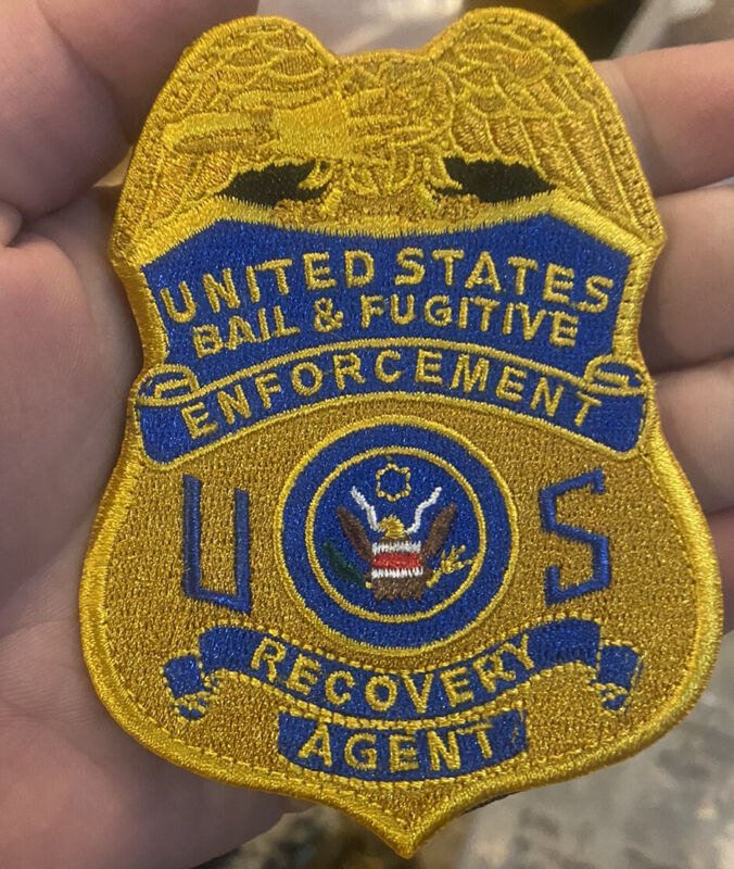 United States bail and fugitive enforcement recovery agent patch Velcroo Back