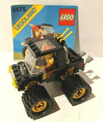 LEGO 6675 Town _ ROAD & TRAIL 4x4 1988 Monster Truck - Complete w/ Instructions