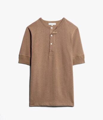 MERZ B SCHWANEN 2H07 Henley Short Sleeve Tee . Nut , 7/XL