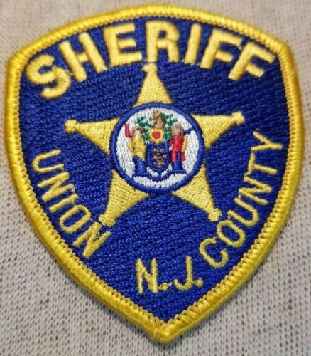 NJ Union County New Jersey Sheriff Patch (3In Mini Patch)