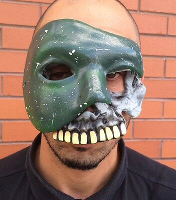 The Purge Anarchy 2 Style Mask Halloween Fancy Dress Costume 1, 3 Green Skull](Purge 2 Masks)