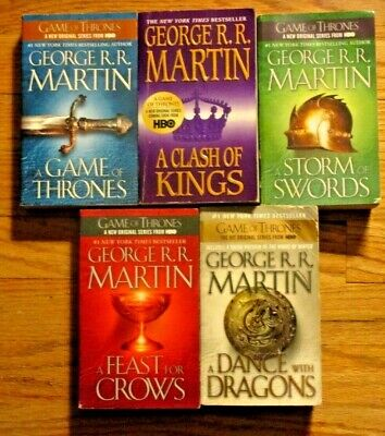 LOT OF ALL 5 BOOKS~GEORGE R.R. MARTIN'S A SONG OF ICE & FIRE~GAME OF THRONES~PB6
