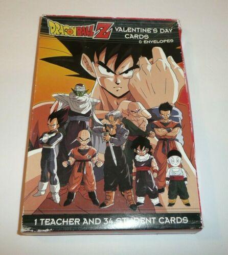 Dragonball Z Children's 34 Valentines Teacher Card Valentine