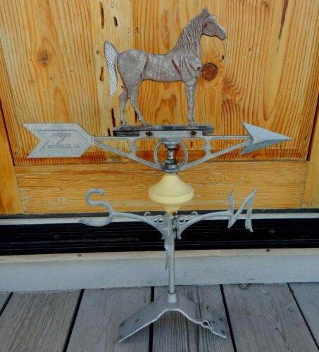 Original VTG Robbins Horse Weathervane Aluminum with Ridge Bracket Equestrian