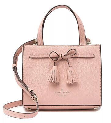 Kate Spade New York Hayes Crossbody Bow Tassel Rosy Cheeks Bag Purse WKRU5718