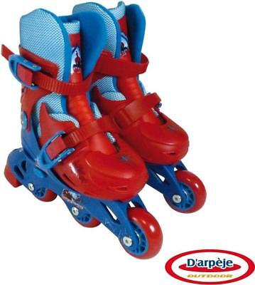 Spider Man 2-In-1 Boys Triskates Inline Skates Adjustable UK Kids Size 9 - 11.5