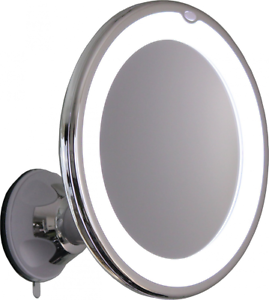 10x Magnifying Lighted Makeup Mirror Vanity Swivel Locking Suction Mount Travel
