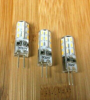 3 BBT Marine Grade 12 volt Soft White 24 LED G4 Light Bulbs