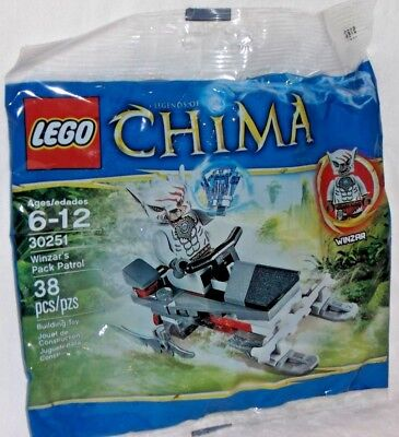 LEGO new sealed PROMO POLYBAG Baggie set 30251 LEGENDS CHIMA Winzar Pack Patrol