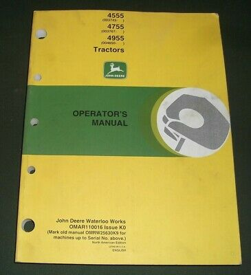 John Deere 4555 4755 4955 Tractor Operation Maintenance Manual Omar110016