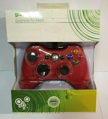 Wired Controller for XBOX 360 RED, long cable, GAMER - NEW