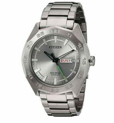 Citizen Eco-Drive Men's Super Titanium Calendar 44mm Bracelet Watch AW0060-54A