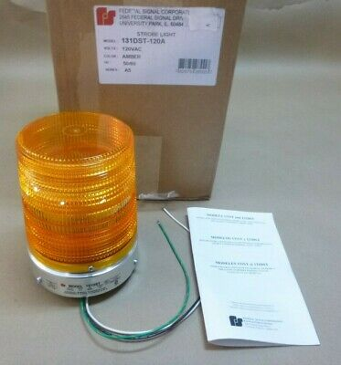 Federal Signal 131dst-120a Amber Starfire Warning Strobe Light 12npt 120vac