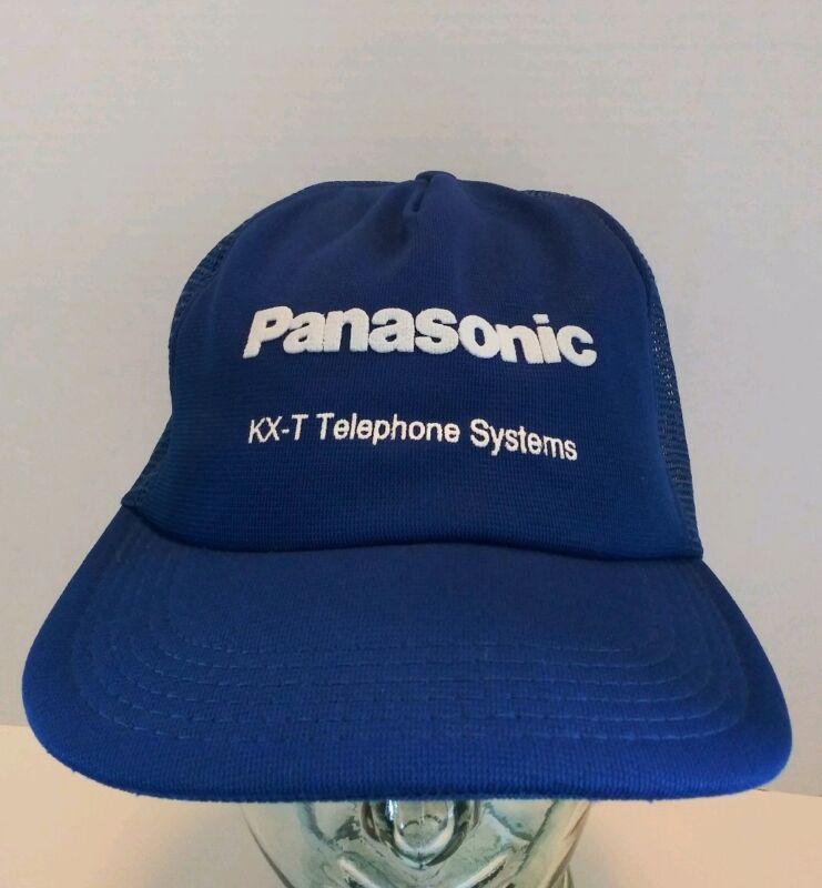 Vintage Panasonic KX-T Telephone Systems SnapBack Trucker Hat Mesh Cap USA Made