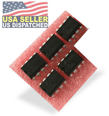 5 X Fairchild Onsemi Lm358n Lm358 358 Low Power Dual Op-amp 8 Pin Dip Ic -