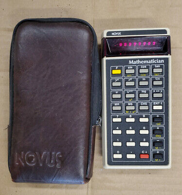 vintage Novus 4510 Mathematician Calculator with Soft Case/ 1970's WORKS