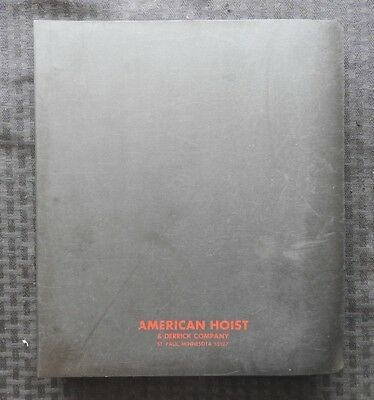 1968-75 American Hoist Skyhorse 900 Series Crawler Cranes Parts Catalog Manual