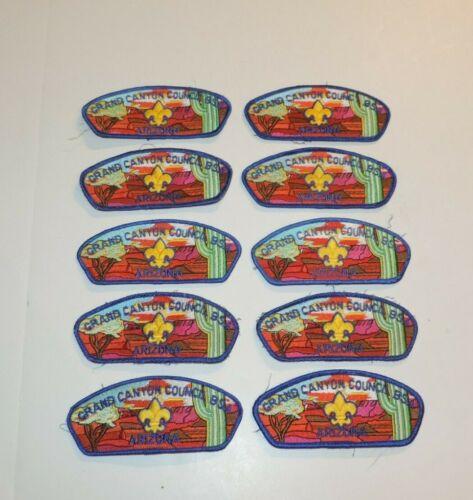 LOT OF 10 BOY SCOUTS OF AMERICA BSA UNIFORM AZ. GRAND CANYON COUNCIL PATCHES