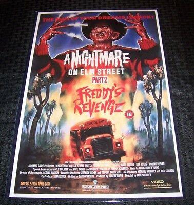 Nightmare on Elm Street 2 Freddy's Revenge Krueger 11X17 VHS Movie Poster