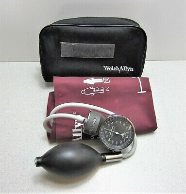 Welch Allyn Handheld Gauge Sphygmomanometer With Large Adult 12 Cuff Case